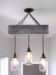 Diy Ceiling Light by Mason Jar Box Chandelier Ceiling Light By Outofthewdworkdesign