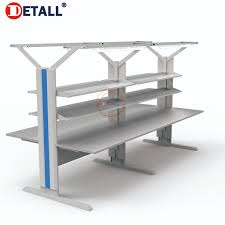 stainless steel corner work table detall electronics esd safe anti static top design stainless steel