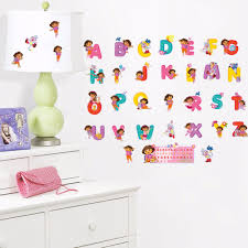 compare prices on kids furniture customize online shopping buy pvc cartoon dora alphabet wall stickers girls home decoration custom name wall decals for kids rooms