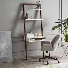 west elm standing desk ladder shelf desk west elm