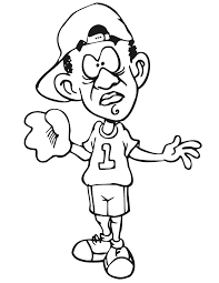 printable baseball player coloring page confused player