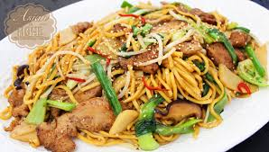 asian at home easy chicken chow mein youtube