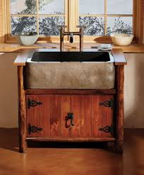 Rustic Kitchen Sink Kitchen Sinks Kitchen Sink Vanity Design Amusing Brown Rectangle
