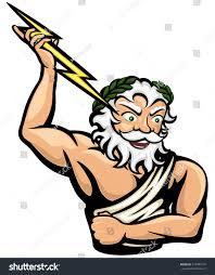vector illustration greek god zeus or stock vector 378489175