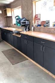 kitchen cabinets workshop diy workshop organization repurposed