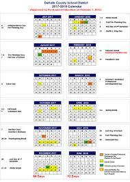 dekalb county schools 2017 18 calendar
