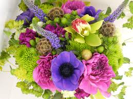 photo bouquets orchid mums flowers peonies anemones