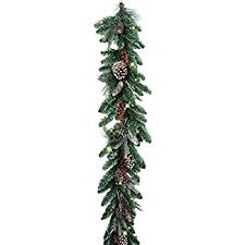 national tree 9 foot by 10 inch frosted berry garland