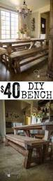 How To Build A Bench Seat For Kitchen Table Diy 40 Bench For The Dining Table Bench Diy Furniture And