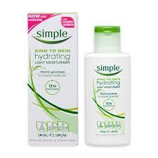 simple hydrating light moisturizer simple kind to skin hydrating light moisturizer reviews in