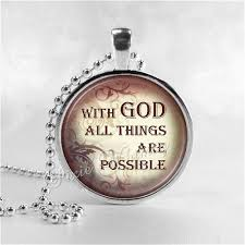 christian jewlery bible scripture quote necklace with god all things are possible