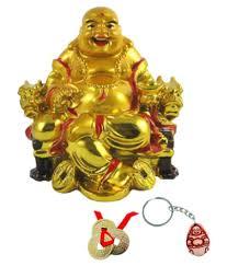 feng shui yellow subh store feng shui yellow laughing buddha with lucky coin set