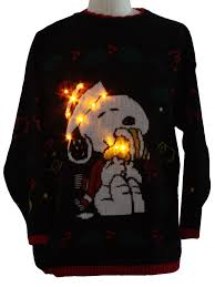 snoopy christmas sweatshirt vintage 1980 s snoopy lightup christmas sweater 80s