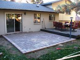 How To Make Paver Patio Diy Paver Patio Add Easy Way To Lay A Patio Add How To Build A