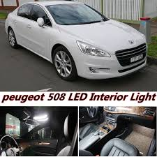 peugeot 508 interior 15pcs x free shipping error free led interior light kit package