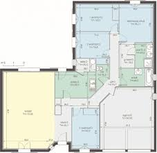 plan maison 4 chambre plan maison plain pied 3 chambres gratuit plan maison 4 chambres