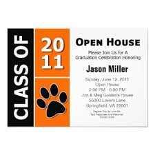 Open House Invitations Graduate Invites Astonishing Graduation Open House Invitation