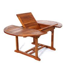 Solid Teak Dining Table Shop All Things Cedar 48 In W X 48 In L Oval Teak Dining Table At