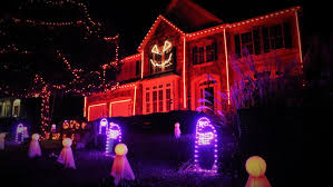 christmas light show house music photos thousands of lights music make for spooky show at leesburg