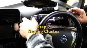 nissan leaf extended warranty nissan leaf instrument cluster removal youtube