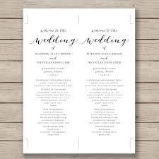 wedding website exles wedding day program template 28 images printable wedding
