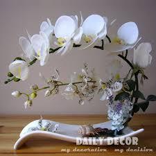 flowers arrangements high simulation handmade ikebana artificial orchid flowers