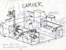 stealth camper creative ideas elkins diy toyota camper drawing