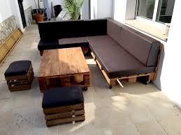 Sectional Sofa Set Pallet Sectional Sofa Set With Black Cushion 101 Pallets