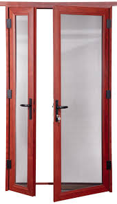 Double Glass Door by Yifa Brand High Quality Residential Aluminum Glass Double Entry