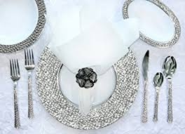 silver wedding plates royalty settings hammered collection plastic plates