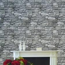 fine decor wallpaper roll modern natural rustic grey red brick