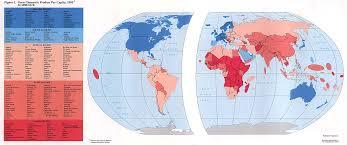 World Wide Map 1995 Gdp World Maps Map World U2022 Mappery
