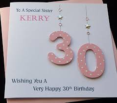 handmade personalised pink age number birthday card 21st 30th