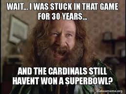 Jumanji Meme - wait i was stuck in that game for 30 years and the cardinals