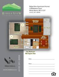 white marsh md apartments ridge view apartment homes two bedroom 853 1124 to 1144 floor plan