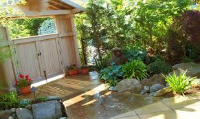 exterior decoration amazing garden fence ideas with fish pond