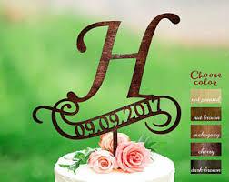 h cake topper h cake topper etsy