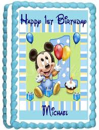 baby mickey 1st birthday baby mickey 1st birthday edible frosting sheet cake
