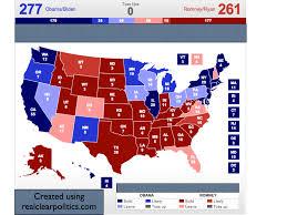 2008 Presidential Election Map by Electoral Vote Predictor October 2012