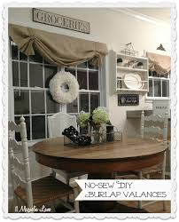Making A Window Valance Tutorial How To Make A No Sew Diy Burlap Window Valance 11