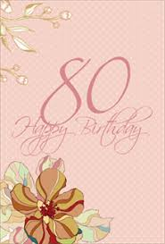 free printable 80th birthday cards greetings island