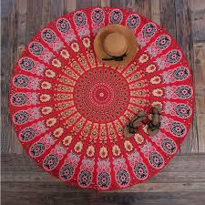 hippie home decor with indian folk art craft that uses a lot of