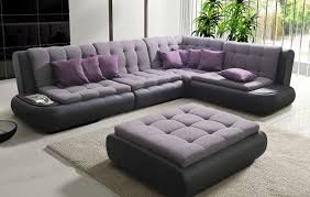 canapé d angle noir et gris canapé d angle gris mauve et noir canapés en tissus meubles