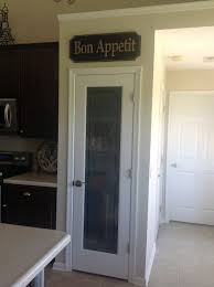 pantry door was a special order from lowe u0027s the bon appetit sign