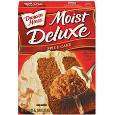 duncan hines moist deluxe cake mix spice cause it u0027s good u0026 it u0027s