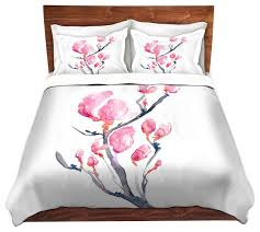 floral magnolia painting nature modern duvet cover twin asian