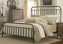 Vintage King Bed Frame Hton Vintage White Cal King Size Metal Bed Frame Inside
