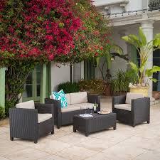 raleigh outdoor wicker 4 piece sofa set multiple colors walmart com
