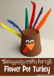 thanksgiving crafts for flower pot turkey from abcs to acts