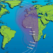 Middle East On Map by Intelsat Is 22 Satellite Footprint Map